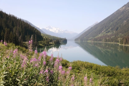 Seton Lake British Columbia snowy mountain scenic landscape photo