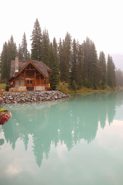 BEAUTI photography travel photographer Wall Art Emerald Lake Lodge reflection