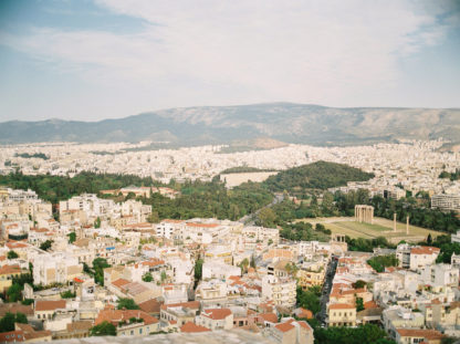 BEAUTI photography travel photographer Wall Art city view from Acropolis of Athens Greece
