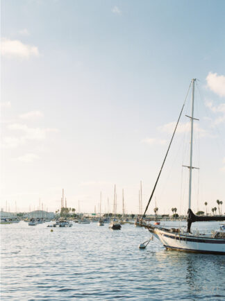 BEAUTI photography film photography San Diego harbour sailboats travel photographer wall art
