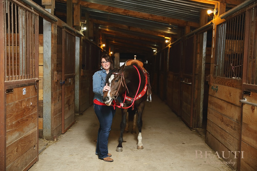GCJ Stables Cowgirl Makeovers Arbonne makeup portrait shoot horse stables photo