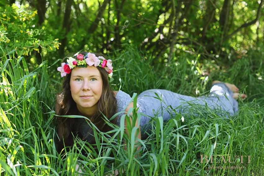 Weyburn Saskatchewan Graduation portrait photographer Class of 2014 bohemian style floral crown graduation photography