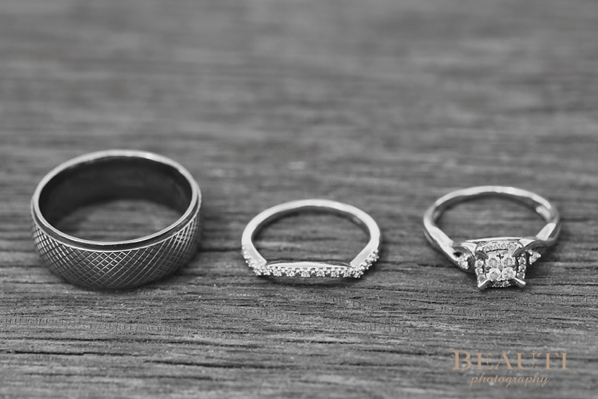 Kananaskis Alberta wedding photography Boundary Ranch wedding bands engagement ring photo