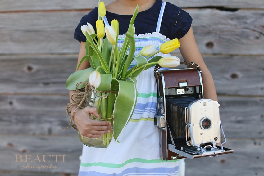 Tribune Saskatchewan outdoor lifestyle photographer fine art photography spring equinox spring dslr essentials camera course Weyburn Tribune antique camera spring tulips vintage style photo