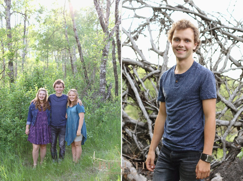 Saskatchewan family lifestyle photographer Preeceville cabin scenery outdoor lifestyle photography nature trees siblings son photo