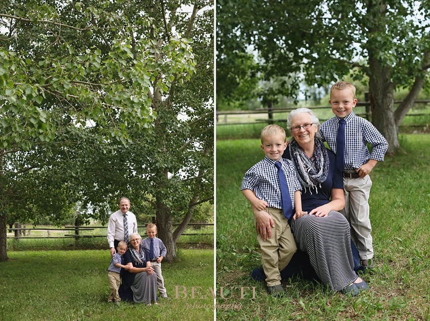 BEAUTI photography Tribune Saskatchewan portrait photographer outdoor family lifestyle portraits family photographer grandparents and grandchildren grandma photo