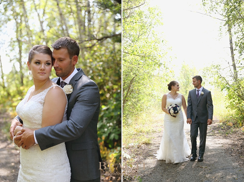 BEAUTI photography Saskatchewan wedding photographer Kenosee Lake wedding bride and groom portraits first look wooden wedding flowers bouquet happy couple in love wedding day photo