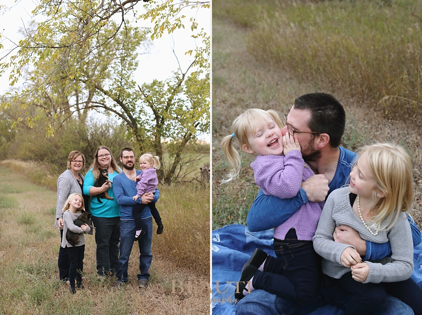 BEAUTI photography Tribune Saskatchewan family lifestyle photographer outdoor family portraits lifestyle photographer farm photography Oungre family farm outdoor sisters daddy and daughters portrait pups photo