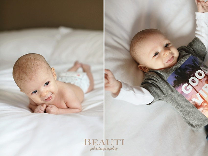 BEAUTI photography Tribune Saskatchewan lifestyle and portrait photographer 2 month old baby boy family lifestyle photography Edmonton Alberta baby portrait photographer handsome happy baby boy photo