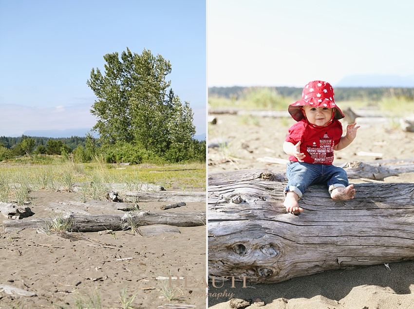 Happy Canada Day BEAUTI photography Vancouver family photographer beach photo shoot driftwood baby photo