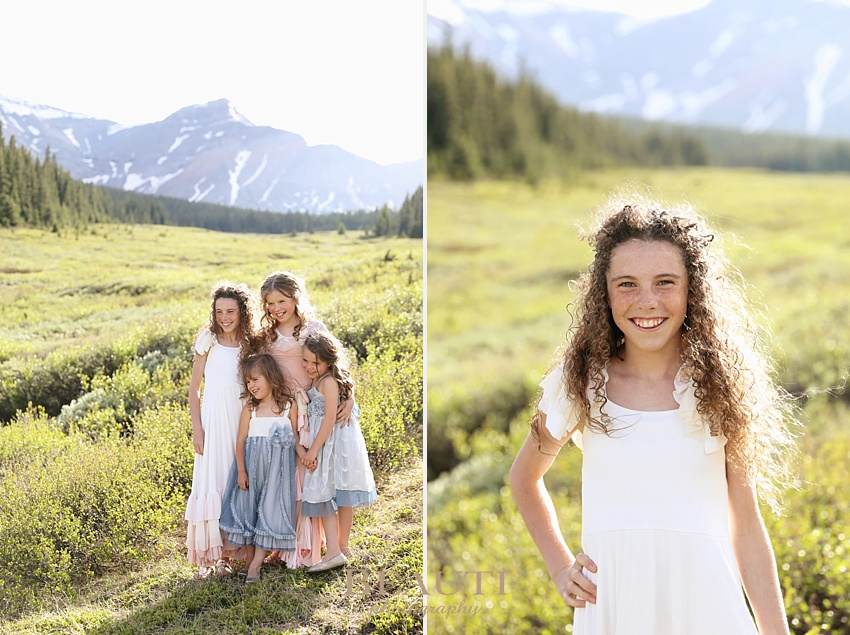 Cadomin family photography BEAUTI photography Alberta family lifestyle photographer Jasper National Park Rocky Mountains sisters photo