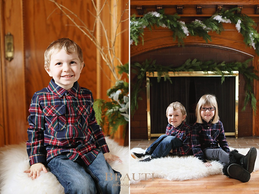 BEAUTI photography Weyburn family photographer holiday photo sessions winter greenery indoor children portraits holiday sessions photo