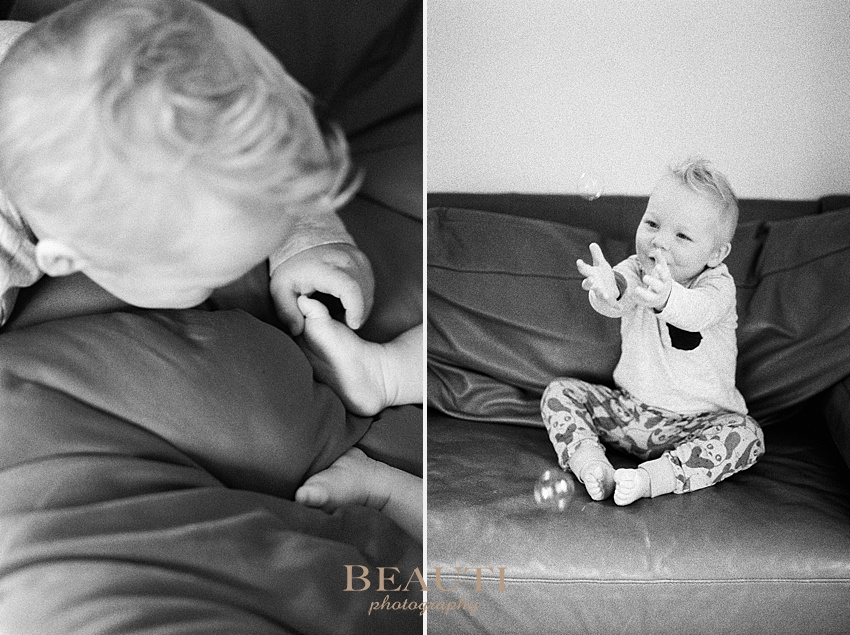 BEAUTI photography newborn lifestyle at-home session one month old baby boy brothers photo