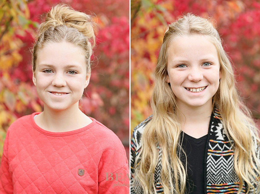 Okanagan portrait photography sisters photo shoot fall colors back to school photo