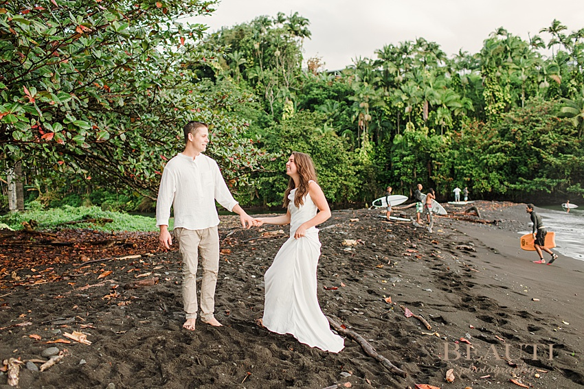 BEAUTI photography Big Island Hawaii pre-wedding photo shoot engagement surf beach photo