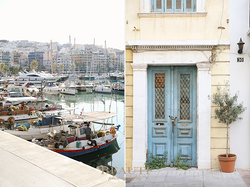 BEAUTI photography travel photographer Piraeus harbour Athens blue door Greece